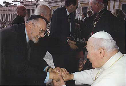 Rabbi Bemporad and Pope John Paul II