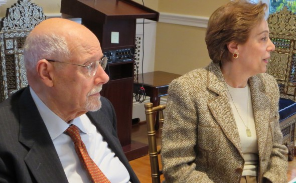 Rabbi Bemporad and Prof. Azizah al-Hibri  address the treatment of Others at the Muslim-Jewish scholarly forum.