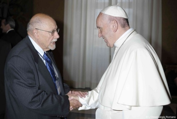Bemporad and Pope Francis discuss refugee crisis.