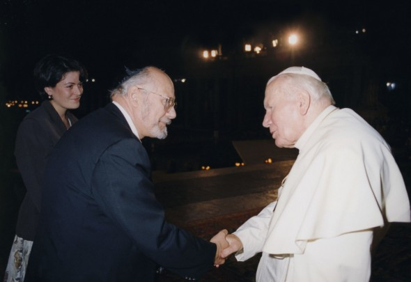 Rabbi Bemporad and Pope John Paul ll